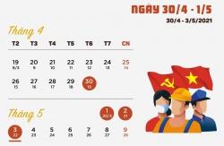 THÔNG BÁO : Lịch nghỉ lễ 30/04 và 01/05